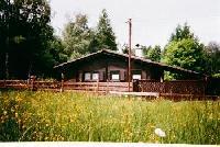 Ferienhaus am Naturpark Hoher Vogelsberg in Windhain am See - Kinderfreundlicher Blockhausbungalow