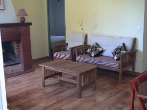living room; wood frame house