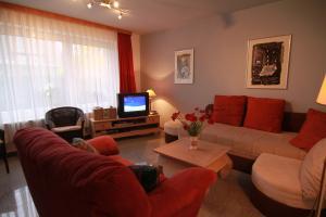 Wohnraum Ferienwohnung 1 mit Schlafsofa 2 x 2 mtr