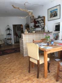 Large dining table and kitchenette