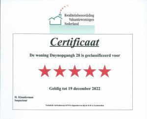 Zertifikat vom niederl. Fremdenverkehrsverein