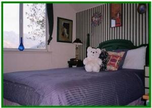 second bedroom in the guest studio