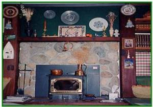 Living area with fireplace on the ground floor