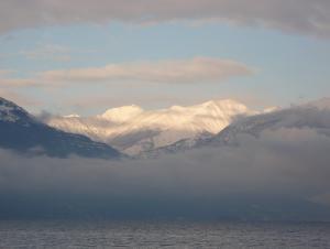 Lake Maggiore near Cannobio in winter