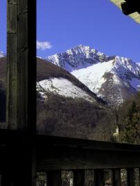 View from balcony towards Monte Zeda
