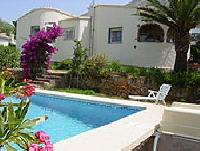 Freistehendes Ferienhaus  in Denia, Costa Blanca, mit Meerblick, eigenem Garten, Garage u. Pool