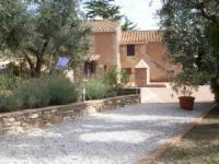 Ferienwohnungen in der Toskana ausserhalb Campiglia Marittima. Panoramasicht bis Insel Elba