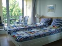Insel Rügen: sonnige Ferienwohnung  im Ostseebad Sellin mit Süd-Balkon in zentraler Lage