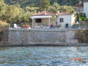 View of cottage from the sea