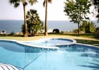 Ferienhaus mit Meerblick auf Bucht von Palma, Sonnenterrasse,Patio und zwei Sandstrände vor der Tür
