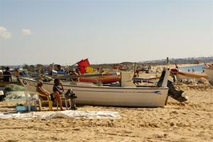 Fischerboote in Armaca de Pera, ca. 60 Min zu Fuß