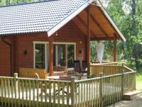 """'Tawibo stuga"""", mit kleine Sauna, 3 Schlafzimmer, ein sehr gemütliches Holzhaus."""