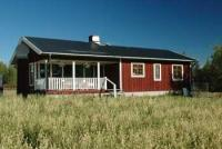 Ferienhaus mit Kamin und Sauna in Lappland, Schweden 50 km nördlich des Polarkreises zu vermieten.