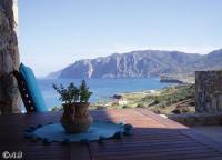 Luxus-Ferienhaus mit imposantem Meerblick nahe Mochlos auf der Insel Kreta zu vermieten.