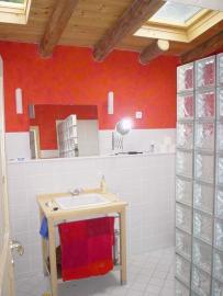 Badezimmern OG begehbare Dusche Badewanne WC