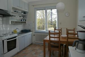 typisch schwedische, sehr gut ausgestattete Küche