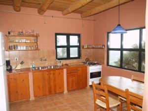 Küche im Twin-Haus mit Panoramafenster
