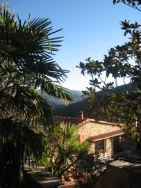 view from the terrace in the Albenga valley