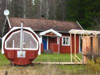 Ferienhaus Sarafallet wunderschöne Alleinlage am See mit Tonnensauna, Kanu, Boot und Salzlecke