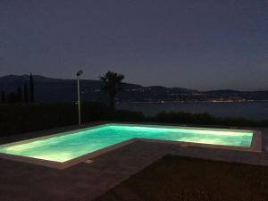 Swimming-pool and panorama at night