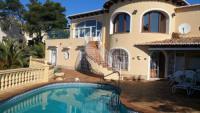 Ferienhaus in Javea La Nao, Costa Blanca, mit Schwimmingpool, Whirlpool und Meeresblick zu vermieten