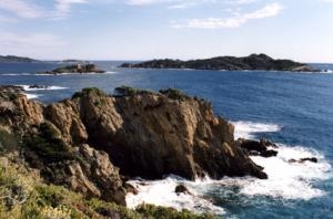 View to the islands closeby