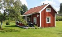 Gemütliches Ferienhaus in Dalsland, Schweden, mit überdachter Terrasse, ideal für 2 - 4 Personen