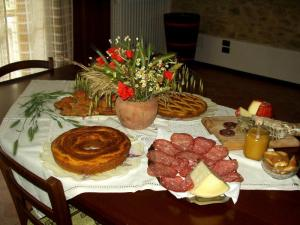 Typical Italian breakfast hand made