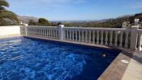 ruhige Ferienwohnung in Orba (bei Denia) 2er Casa mit Pool, Blick auf Costa Blanca, Berge, Plantagen