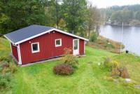 Das Ferienhaus mit fantastischem Panoramablick über den Östersjön bietet Platz für 4 Personen