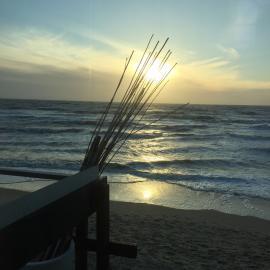 Romantischer Abend am Meer...