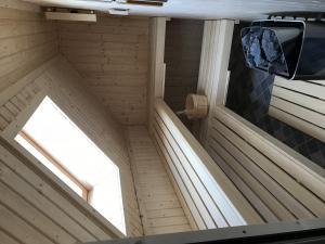 finnische Sauna mit Blick in den Sternenhimmel...