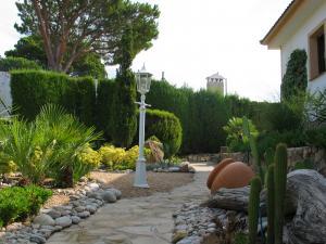 Der hinter dem Wohnhaus befindliche Garten.