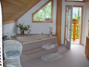 Blockhütte - Badezimmer