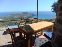 Kreta Süd: Mirthios Plakias Natursteinhaus Bianca bis 4 Personen, hoch am Berg mit tollem Meerblick